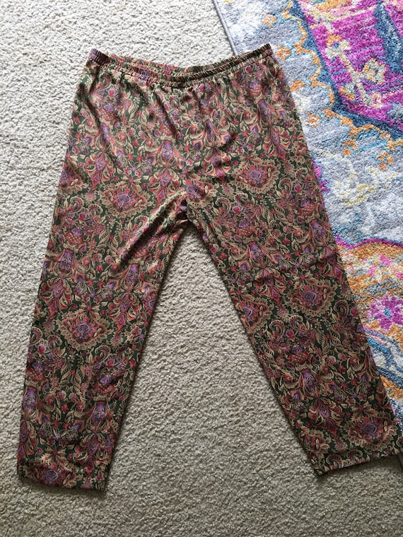 Vintage silk Pajama set - image 3