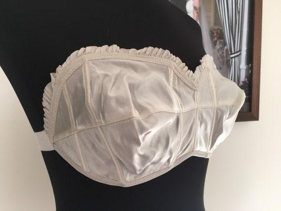 1940s strapless bra // 1940s rayon lingerie