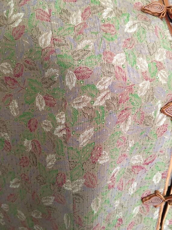 Vintage silk knot button pajama set - image 7