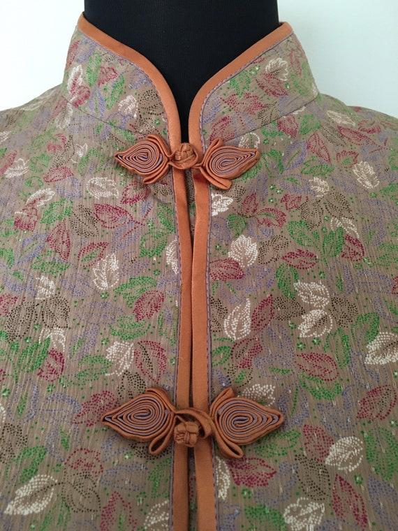 Vintage silk knot button pajama set - image 5