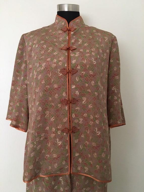 Vintage silk knot button pajama set - image 10