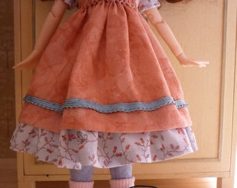 BLYTHE Smock dress, pink