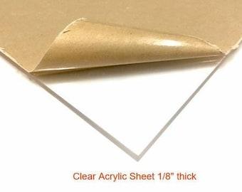 "Clear Acrylic Plexiglass Sheet - 1/8"" Thick"