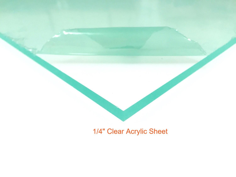 Clear Acrylic Plexiglass Sheet 1/4 Thick | Etsy