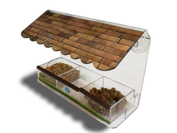 Window Birds Feeder Bird House Acrylic Suction Cups Bird Feeder Tray