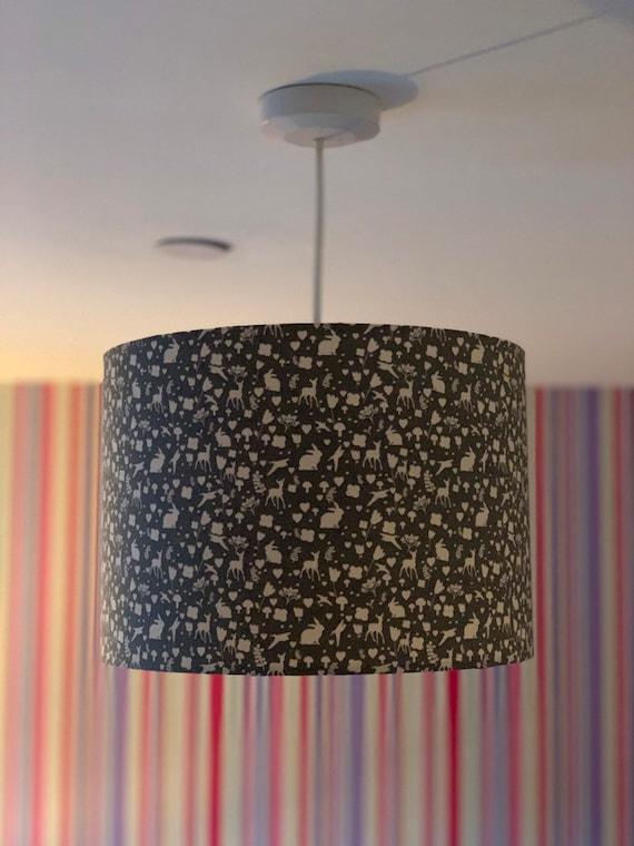 Woodland Animal Themed Lamp Shade Light Shade Etsy