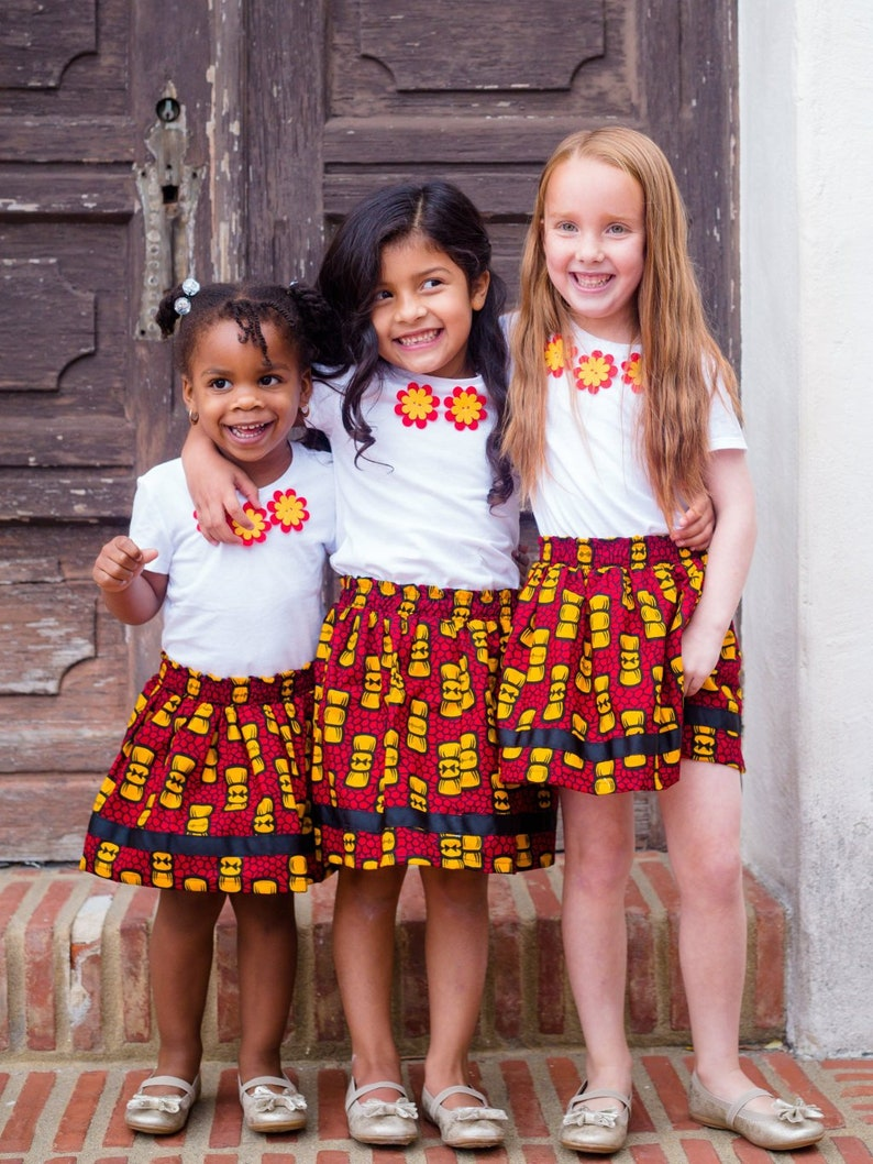 Happy Bow Skirt / African clothing for kids / Baby and Toddler image 0