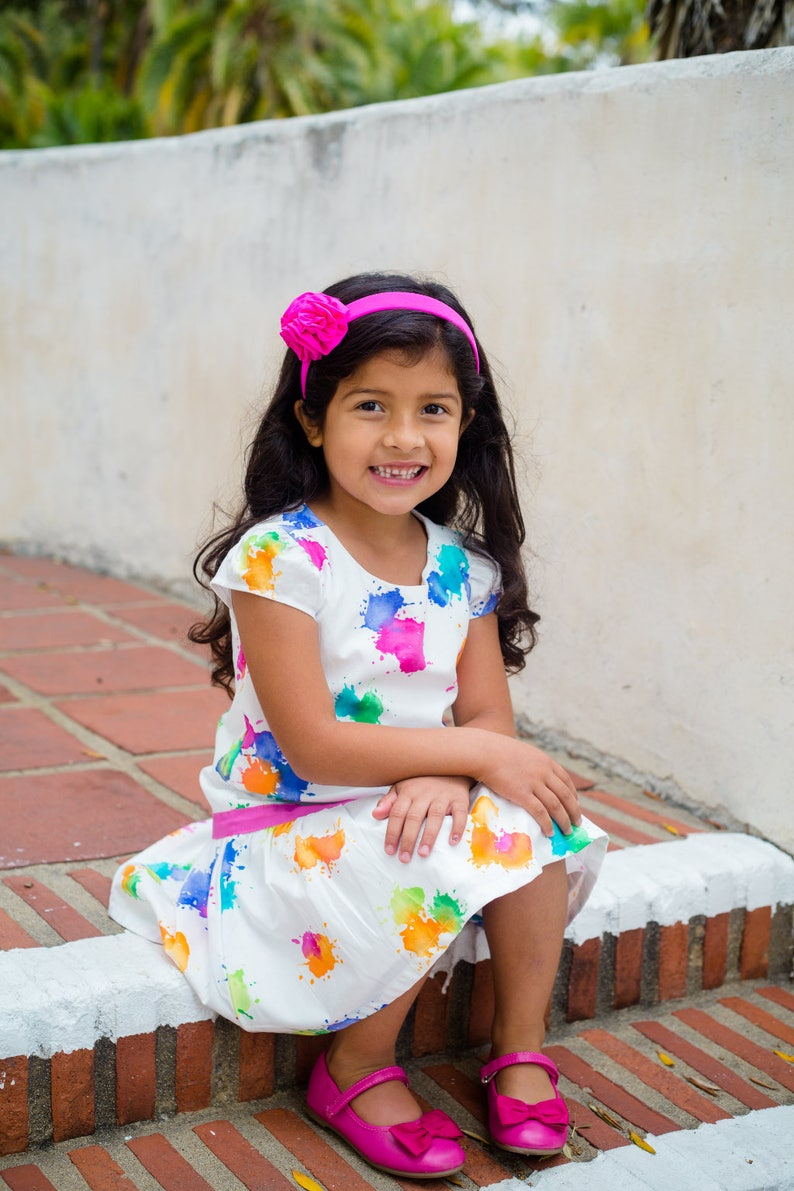 Drop Waist Dress / Baby and Toddler Dress / Multi Color Girls image 0