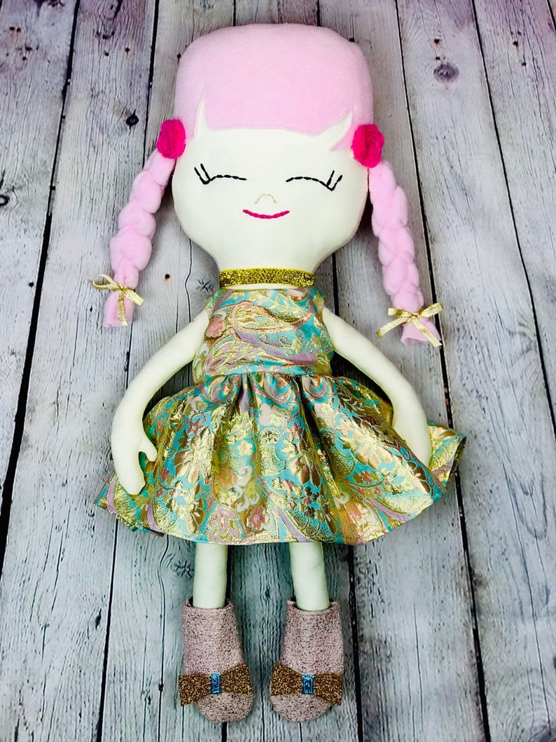 Handmade Heirloom Cloth Doll image 0