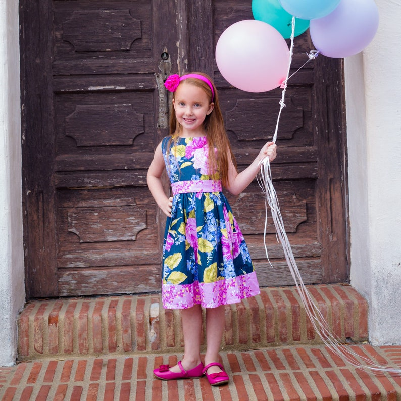 Floral Party Dress / Kids Floral Print Dress / Baby and image 0