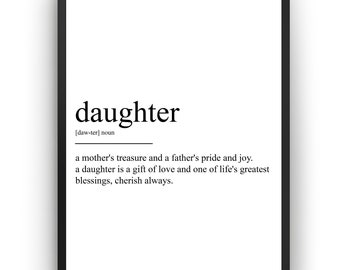 Daughter Definition Print
