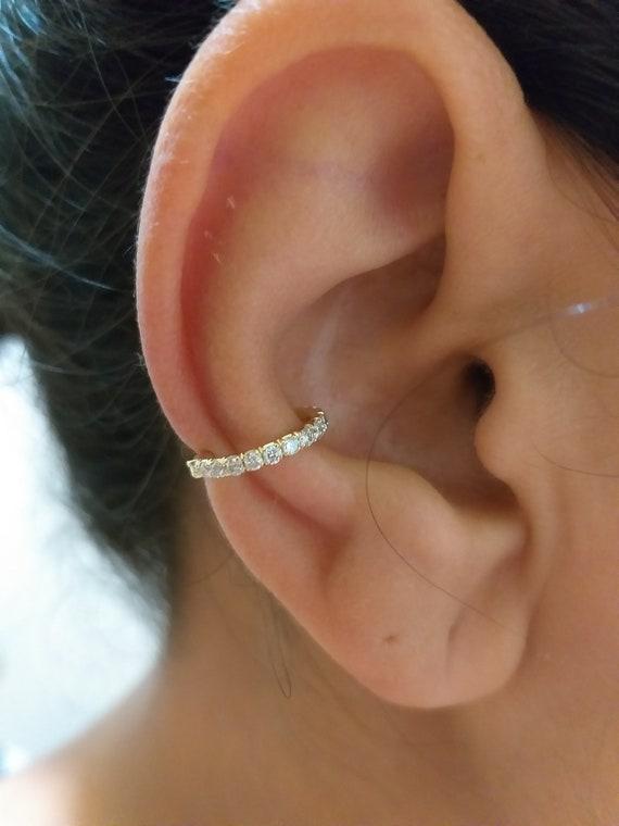 la clientèle d'abord dernière conception magasin en ligne Piercing Helix - Septum clicker 14K - diamants blancs - oreille veste -  hélice boucle d'oreille - oreille manchette - boucle d'oreille Conch - ...