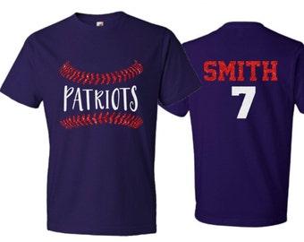 9328e9579 Glitter Baseball Lace T-Shirt | Baseball Stitch Shirt | Short Sleeve  Baseball Shirt | Customize your team & colors | Baseball Bling