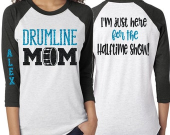 37a124b3 Glitter Drumline Mom shirt | Drumline Shirt | Customize with your Colors