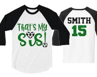 fd9dbcbe597db Soccer sister shirt | Etsy