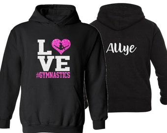 Gymnastics Cropped Sweater Hoodie for girls /& mom Everyday Gymnastics team Sweatshirt Perfect gift idea for all players