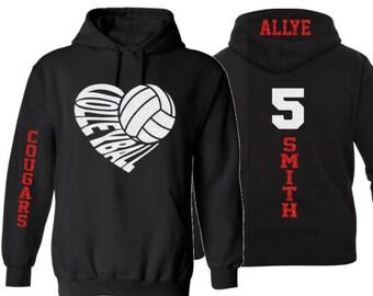 Volleyball Hoodies, Sweatshirts, Pullover