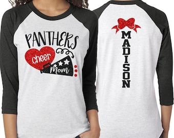 2302a2b4788b Glitter Cheer Mom Shirt | Cheer Mom Shirts | Cheerleading Mom Shirts | Cheerleader  Shirt Gift | Glitter Megaphone Shirt
