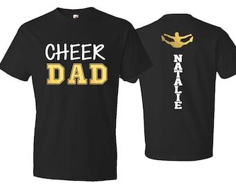 c41bd881 Cheer Dad Shirt| Short Sleeve T-shirt | Customize colors