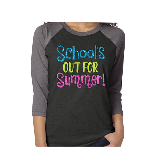 5b2caff0 Glitter School's Out for Summer Shirt Last Day of School | Etsy