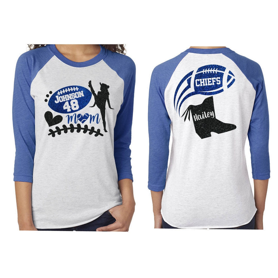 069c16fa Glitter Drill Team & Football Mom Baseball Shirt  Customize Your Colors
