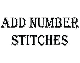 Add Number Stitches