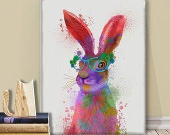 Rabbit print - Rabbit 2 portrait - Bunny decor Bunny nursery art Bunny wall art Rabbit art Rabbit poster Woodland animals Rabbit nursery