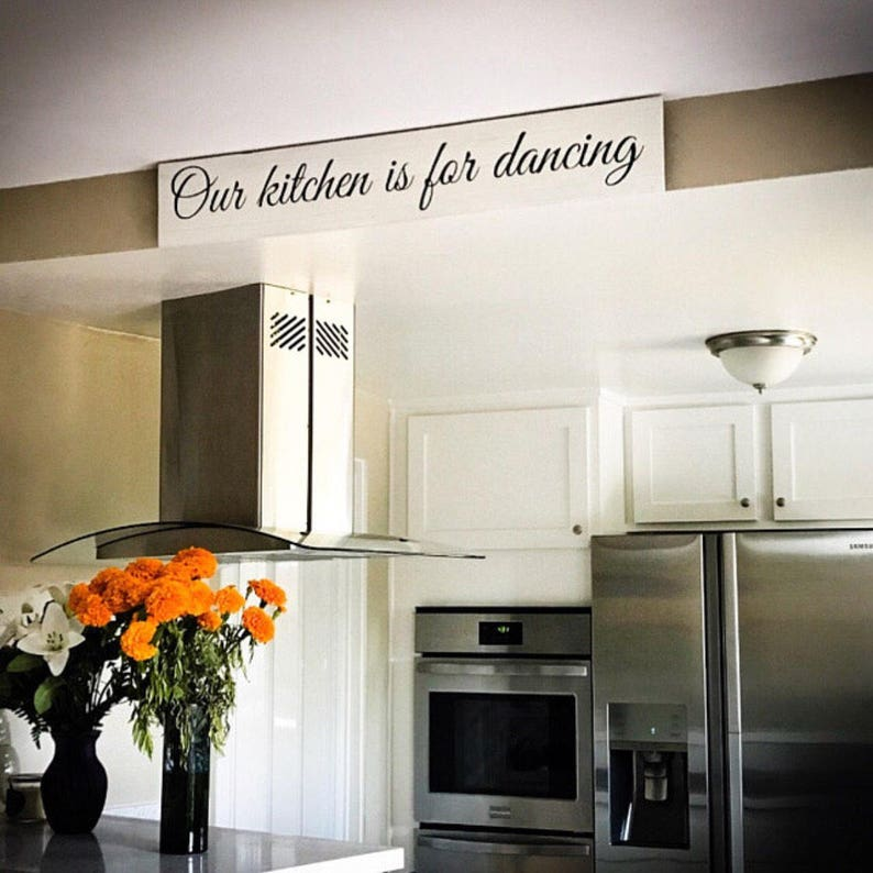Our Kitchen is for Dancing | Kitchen dancing sign | Kitchen sign |  Reclaimed Wood Farmhouse Style | Wood signs for kitchen | Wood signs