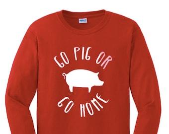Go Pig or Go Home Women's Tee, Razorback Shirt, Hog Caller, College Football Shirt, Hog Football, Woo Pig Sooie, WPS, Go Hogs, Go Razorbacks