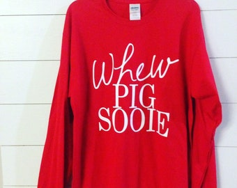 Whew Pig Sooie Women's Tee, Razorback Shirt, Hog Caller, College Football Shirt, Hog Football, Woo Pig Sooie, WPS, Go Hogs, Go Razorbacks
