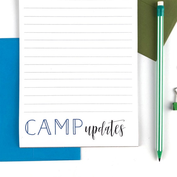 Camp Stationery Letter Sheets, Writing Paper, Summer Camp Personalized  Stationary Set