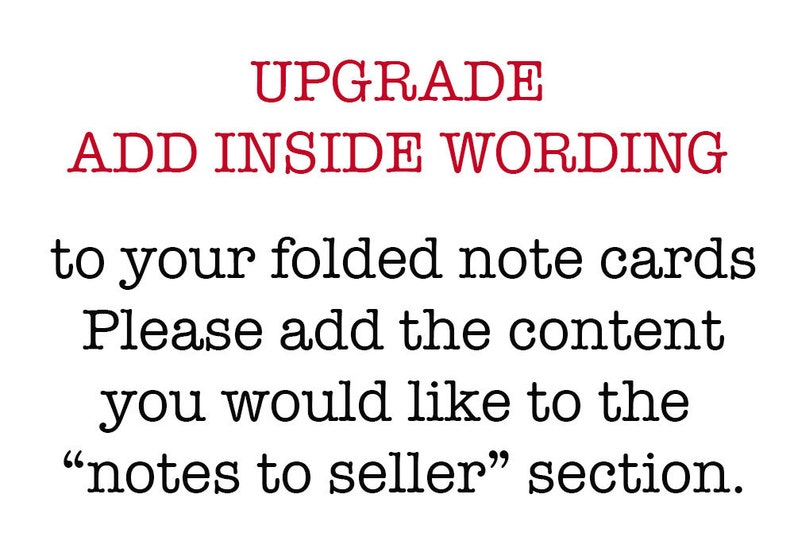 UPGRADE Add Inside Wording to your Stationery