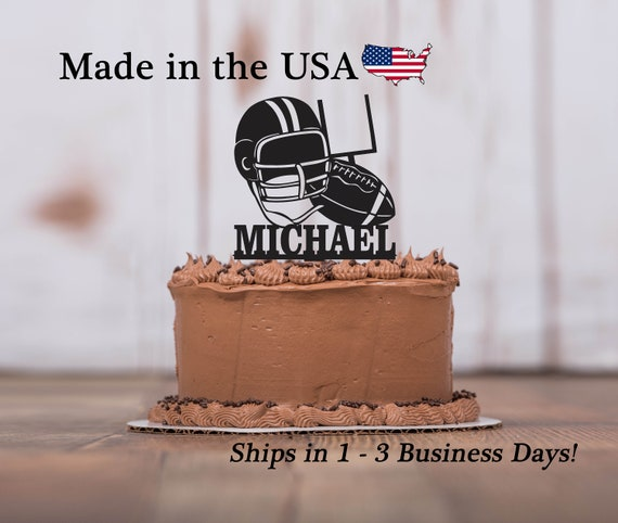 Football Cake Topper Athlete Sports Theme Boys Birthday