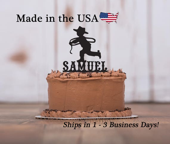 Little Cowboy Cake Topper Personalized
