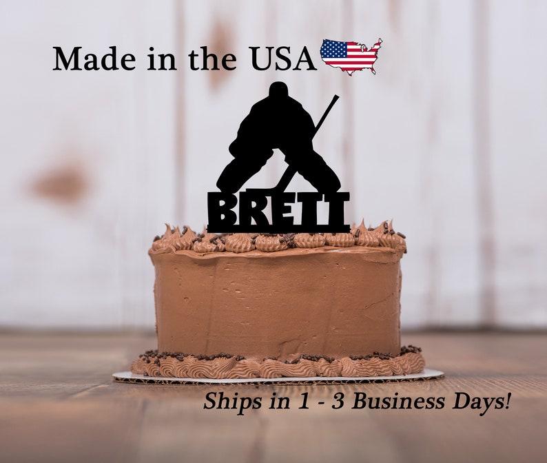 Hockey Goalie Cake Topper Ice Hockey Sports Theme Boys Etsy