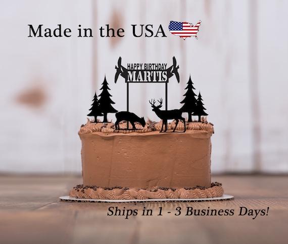 Wildlife Birthday Cake Topper 5 Piece Set Happy