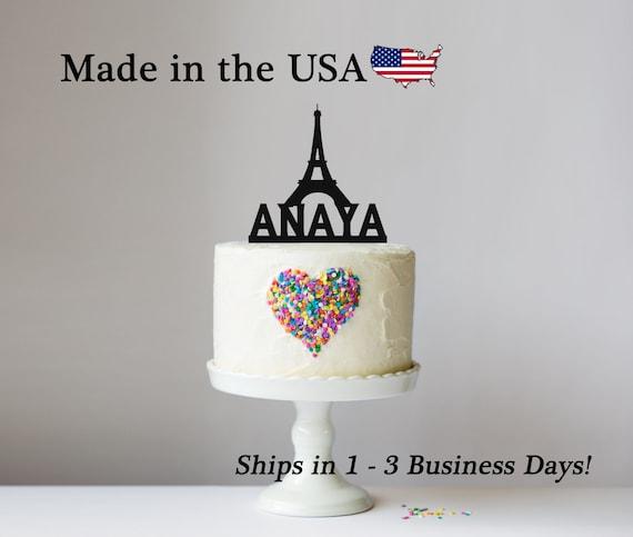 Excellent Paris Eiffel Tower Birthday Cake Topper Personalized Paris Etsy Birthday Cards Printable Giouspongecafe Filternl