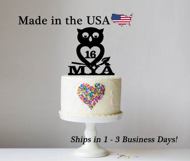 Owl Birthday Cake Topper Wise Origami