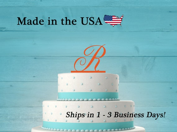 Initial Cake Topper Wedding Cake Birthday Party Birthday Cake Decorations Teen Party Baby Shower Acrylic LT1003 Cake Toppers