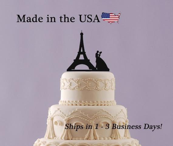 Paris Eiffel Tower Cake Topper Wedding Cake Topper Paris | Etsy
