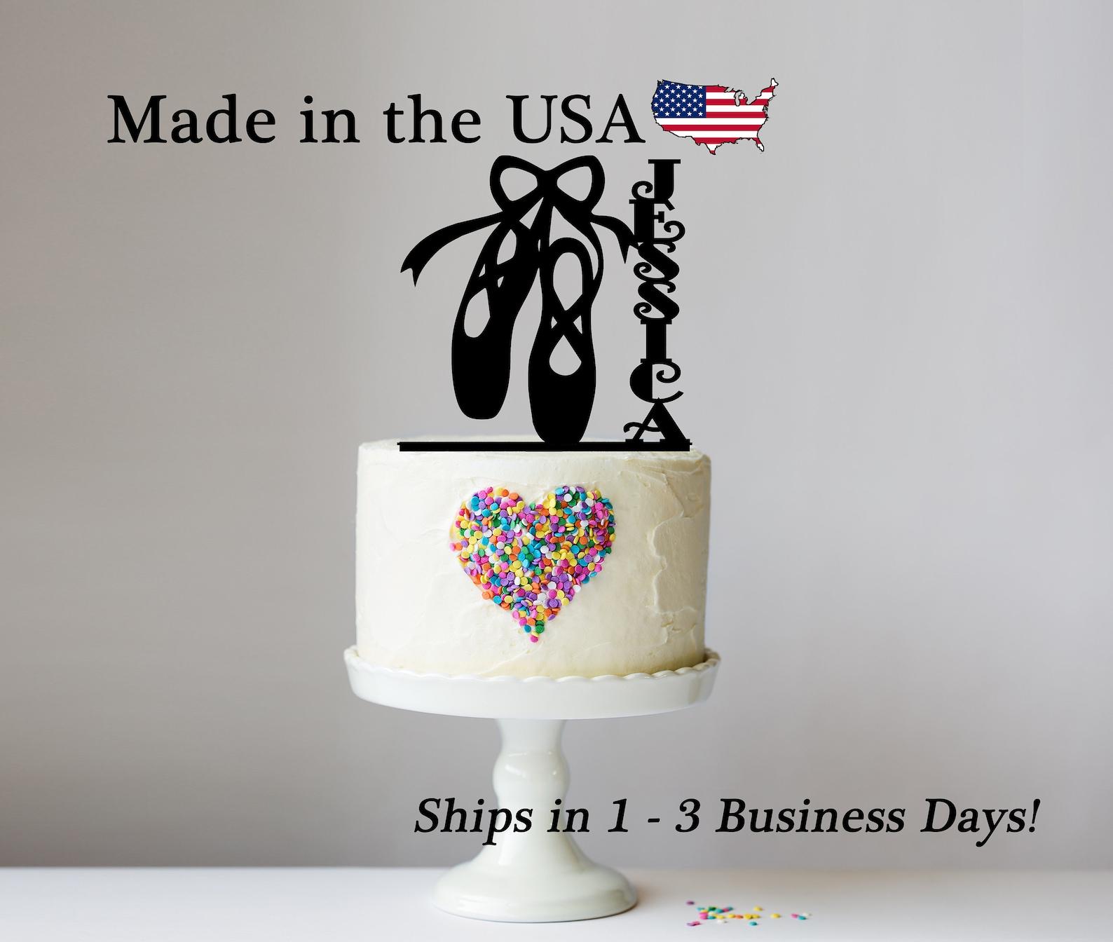 ballet cake topper, ballet, custom dance decor, ballerina decor, ballerina, birthday girl, toe shoes, en pointe, ballet slippers