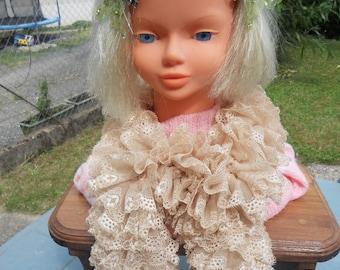 Scarf or simple summer scarf light beige