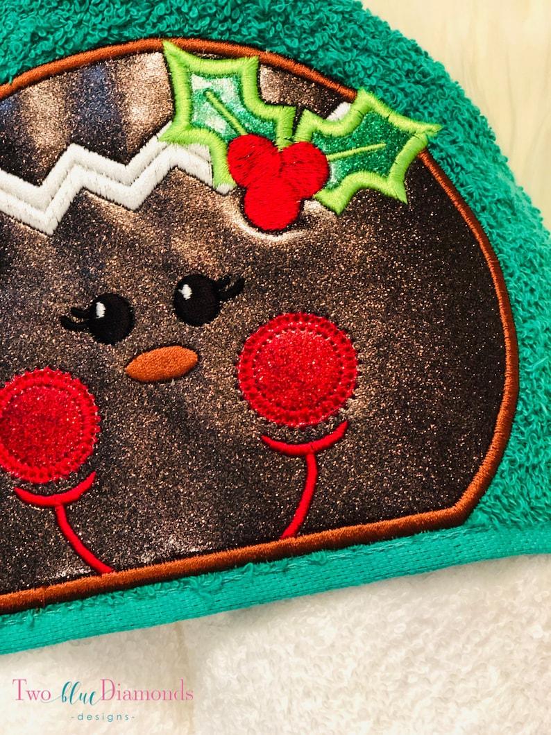 GIngerbread girl Christmas holiday bath hooded towel