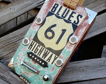 Blues Highway Cigar Box Guitar