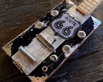 "Route 66 ""Coupe"" Cigar Box Guitar"