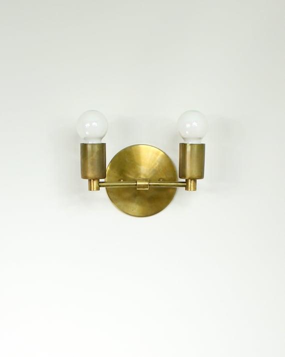 Dual Trek Notch Modern Minimalist Brass Wall Sconce Lamp Etsy