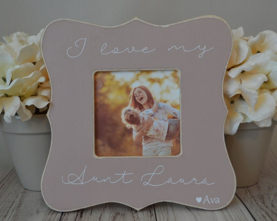 Aunt Picture Frame Custom Picture Frame I Love My Aunt Etsy