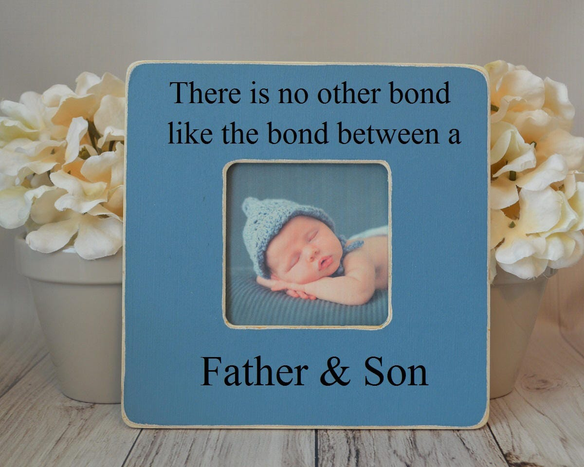 Dad picture frame Custom picture frame Father and son bond   Etsy