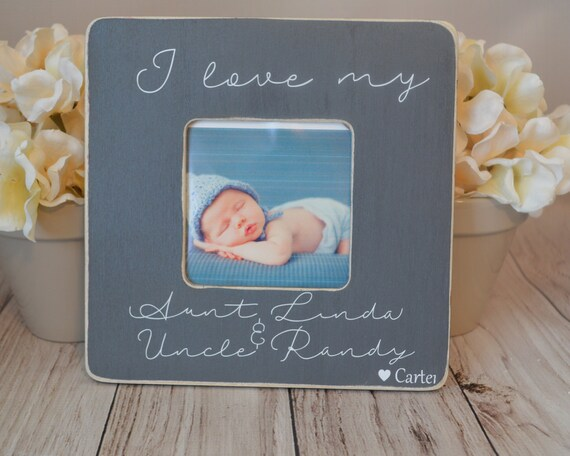 Aunt And Uncle Picture Frame Custom Picture Frame I Love My Etsy