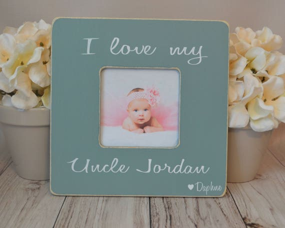 Uncle Picture Frame Custom Picture Frame I Love My Uncle Etsy